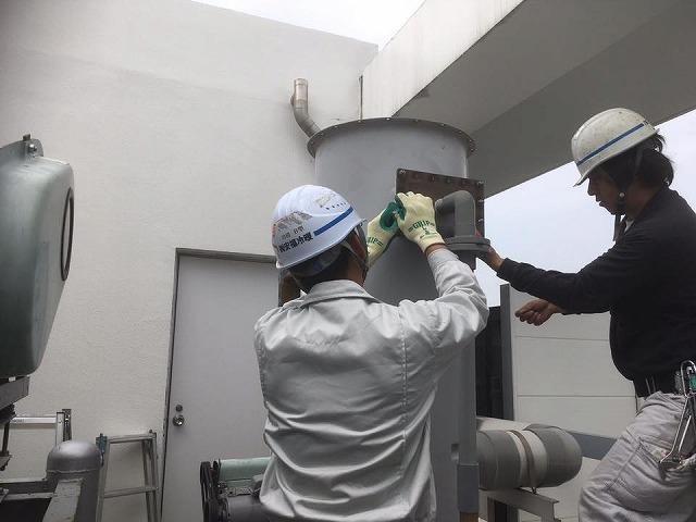 神戸市 某研究施設様 スクラバーメンテナンス