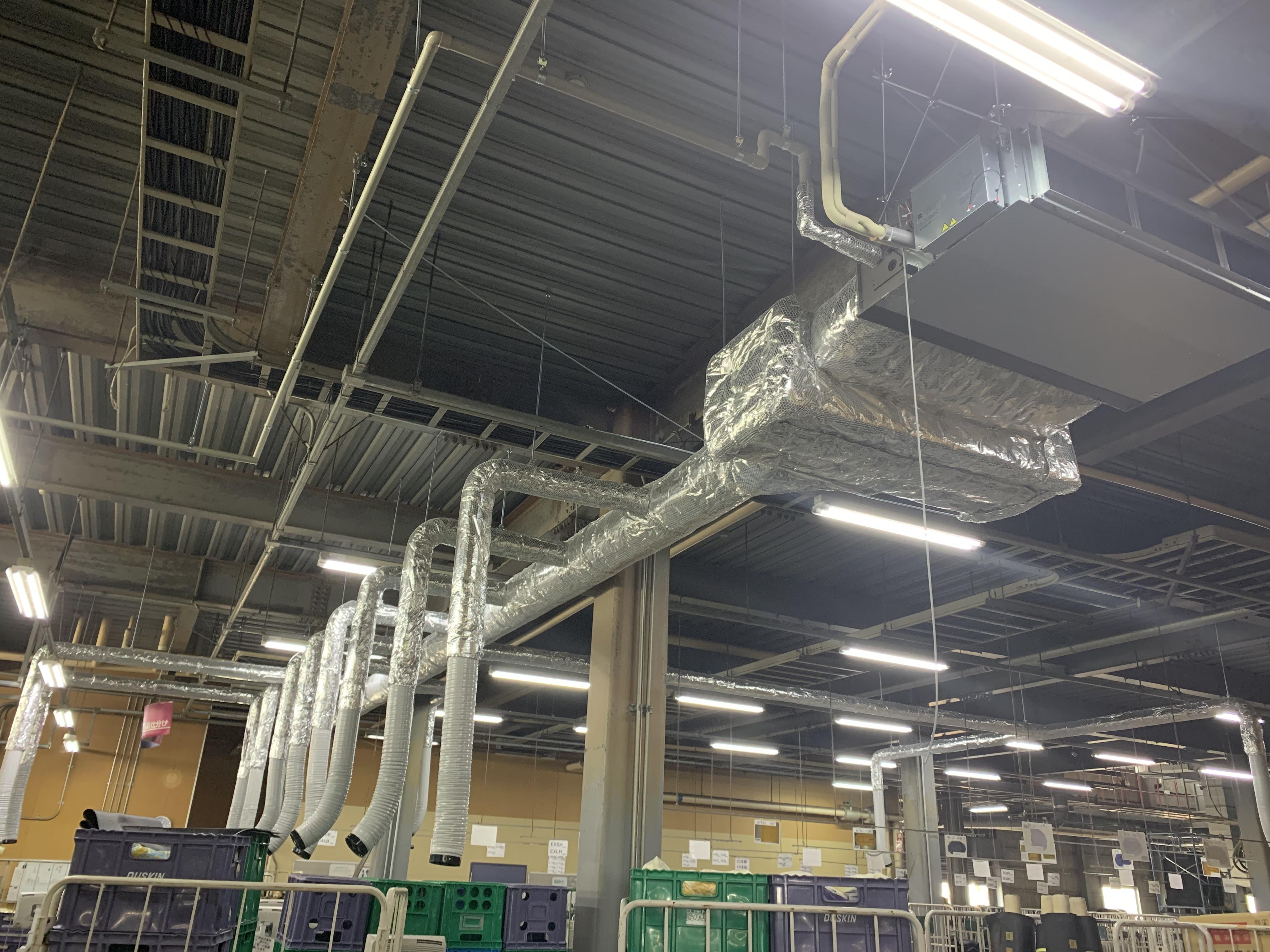 姫路市某工場様 空調機新設