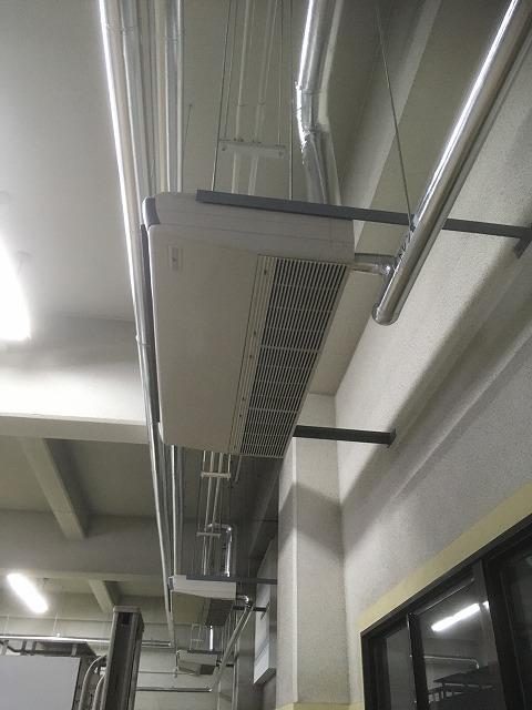 神戸市 某公共施設様 電気室空調機更新工事