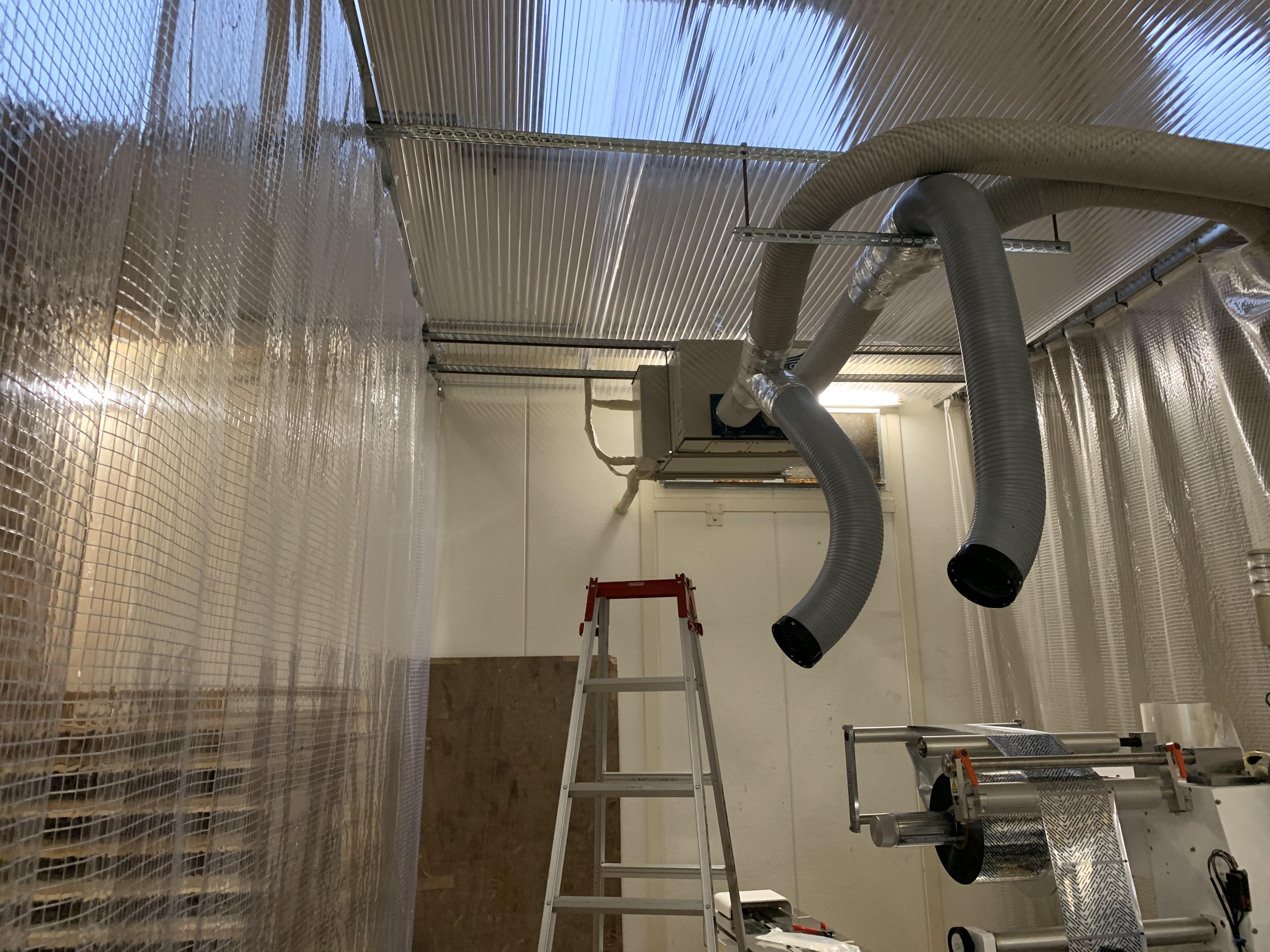 兵庫県神戸市某工場ビニールカーテン設置工事