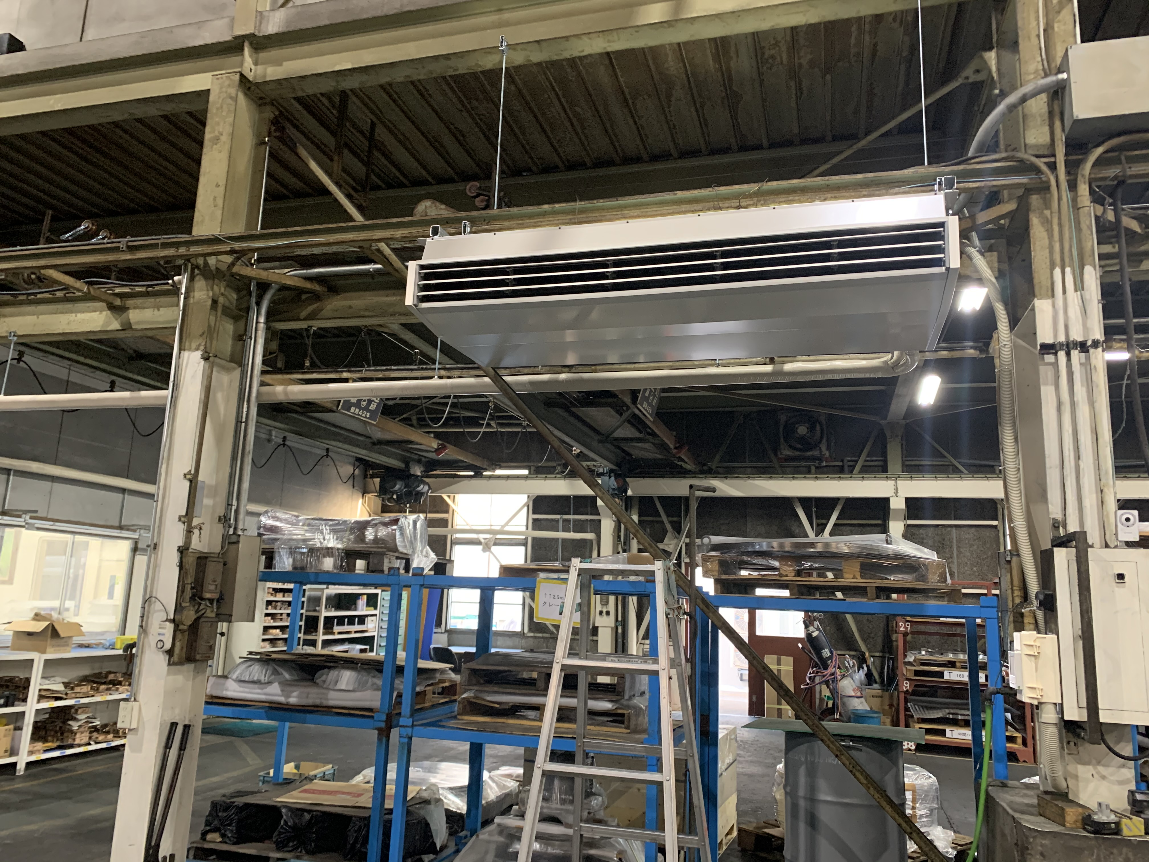 兵庫県神戸市西区 工場空調機新設