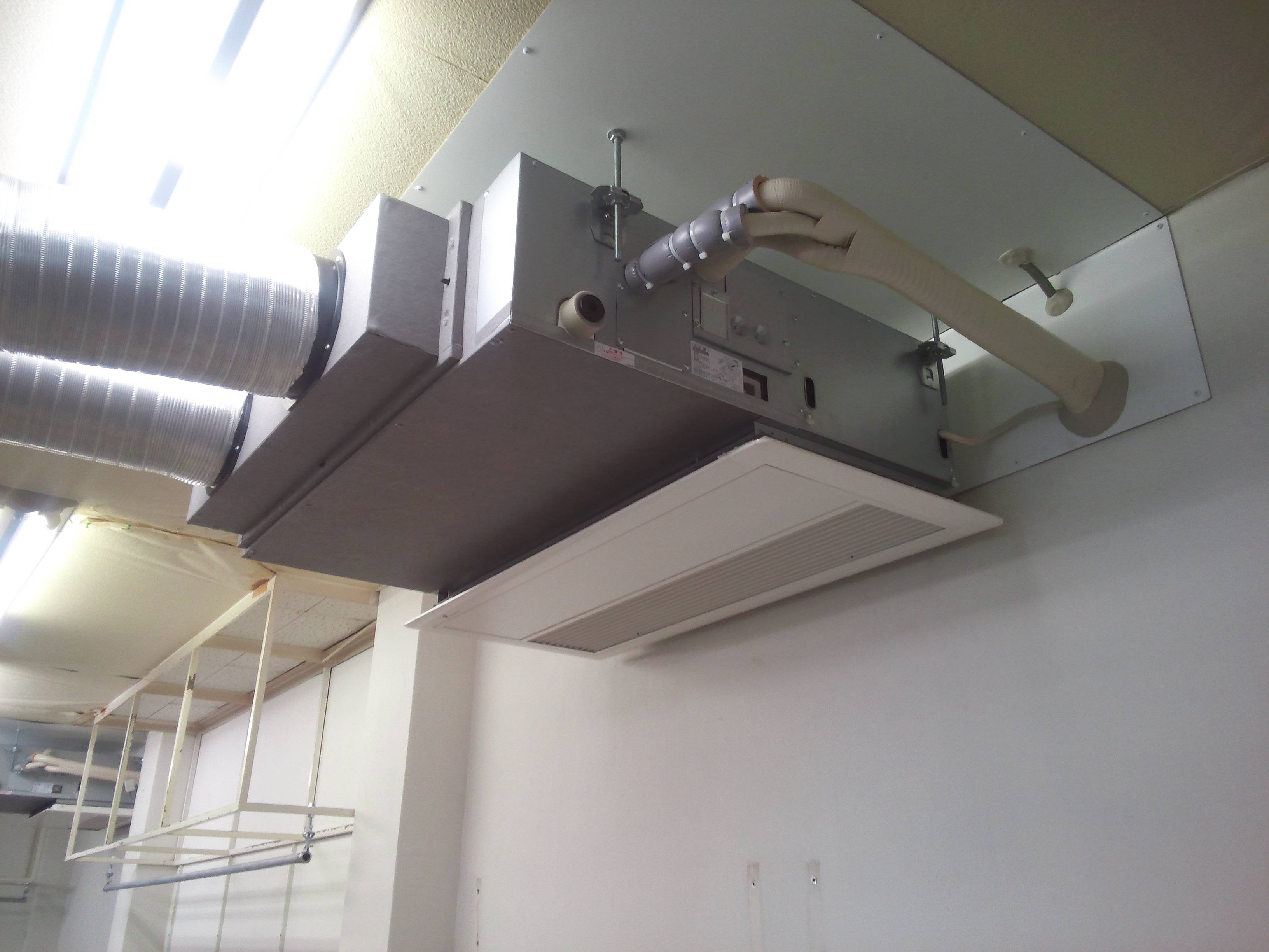 某工場様 空調機新設