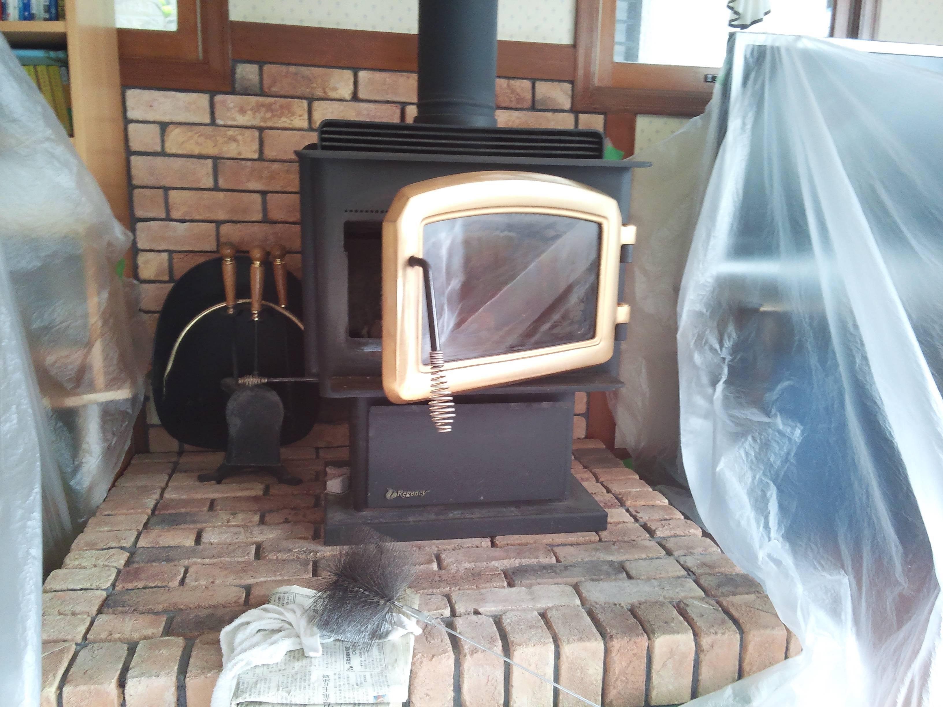 某宅様 薪ストーブ煙突清掃